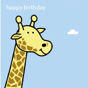 Animal Magic Birthday Card - Giraffe